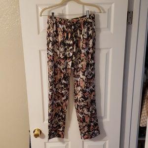 Polyester pajama pants.